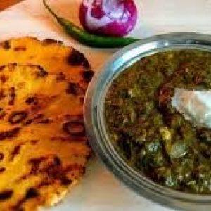 Makki ki Roti and Saag (Meal for 3)